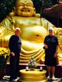 Gary and Jeanne at the Golden Buddha