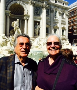 Jeanne and Hans at Trevi Fountain