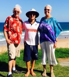 Lifeguard Jack with Jeanne and Gary