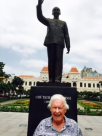 Author at Ho Chi Minh Statue, Reunification Palace