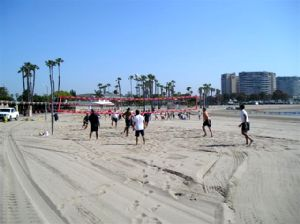 Firemen Playing Volleyball